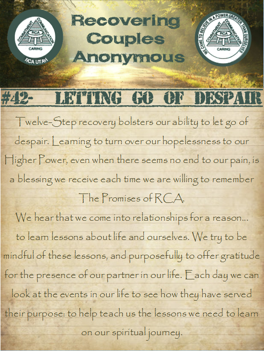 Daily Reflection #42- Letting Go of Despair